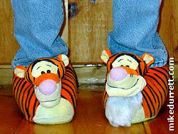 Photo: Tigger slippers.
