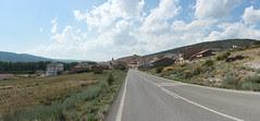 Fortanete: panoràmica de l'entrada des de Cantavieja