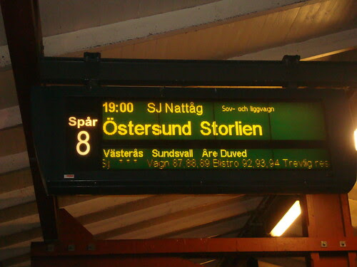 Nattåg till Östersund
