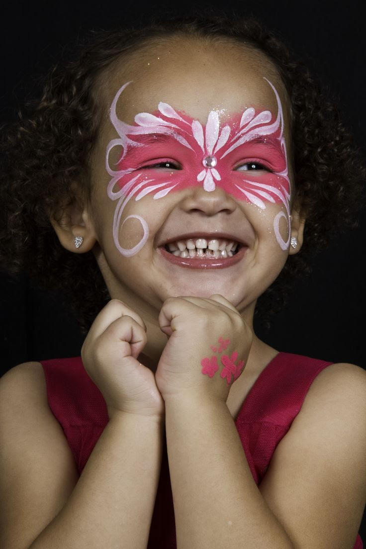 Butterfly Face Paint Easy For Kids Face Paint Ideas