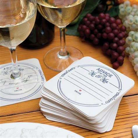 Advice For The Mr and Mrs Wedding Coasters   Set of 25
