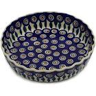 Polish Pottery Pie Dish 8 inch Peacock Pattern by Manufaktura