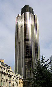 Tower 42 is the tallest building in the City of London
