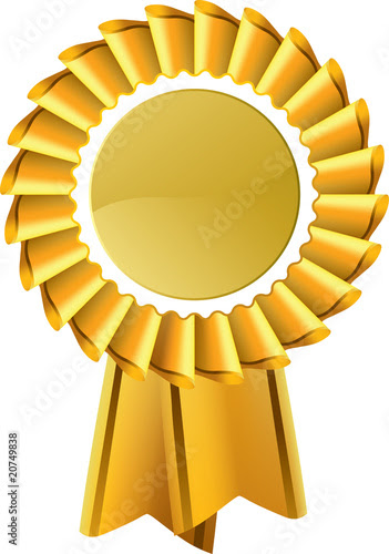 """Gold award seal rosette, editable vector illustration"""" Stock image ..."""