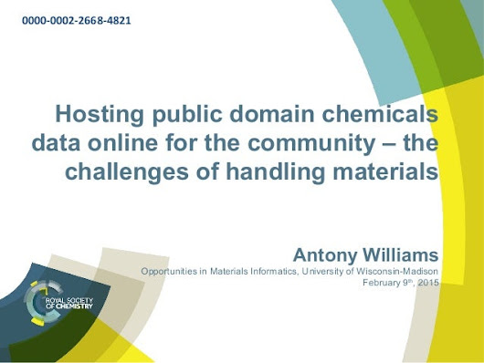 Hosting public domain chemicals data online for the community – the c…
