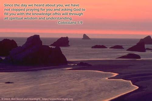 Inspirational illustration of Colossians 1:9