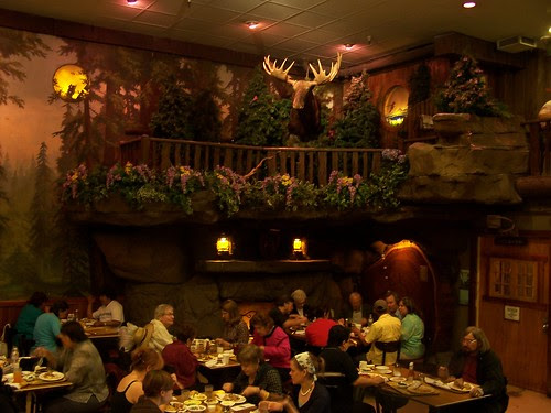 dining at Clifton's Cafeteria