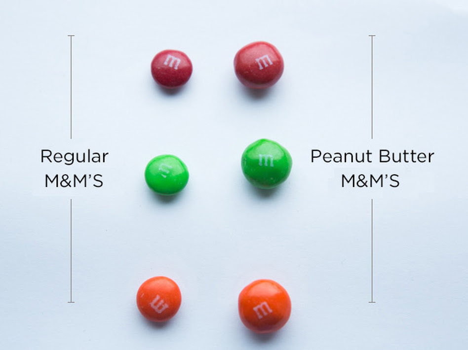 Why A Pack Of Peanut Butter M M S Weighs A Tiny Bit Less Than A Regular Pack Wbur News