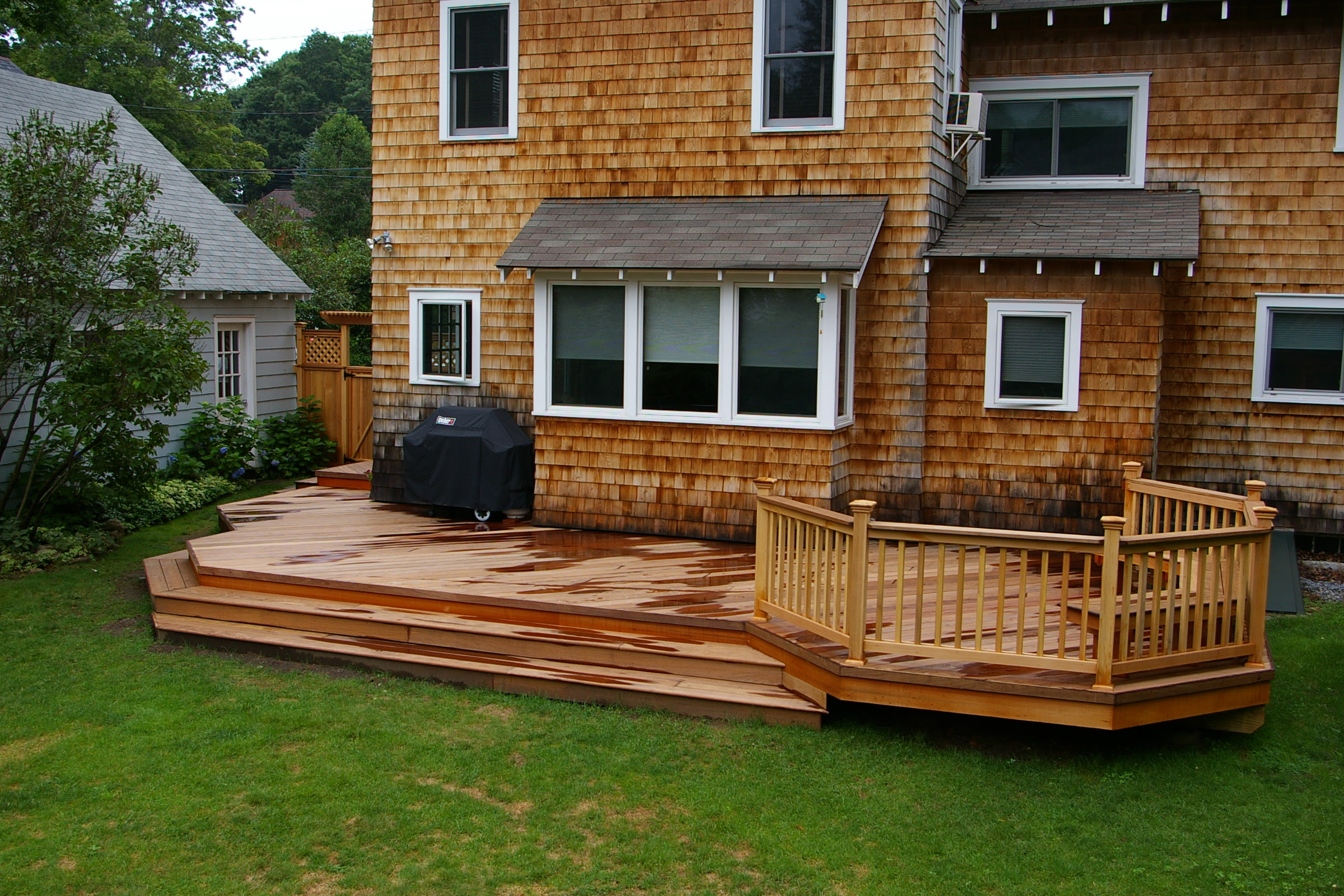 Small backyard deck patio ideas wood