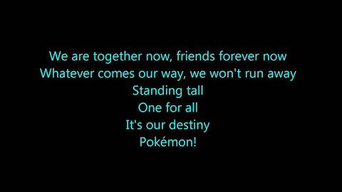 Pokemon Black And White Rival Destinies Theme Song Lyrics