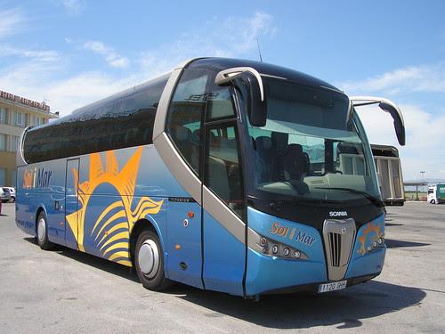 Autocar carrossat per NOGE a Castejón (Navarra)