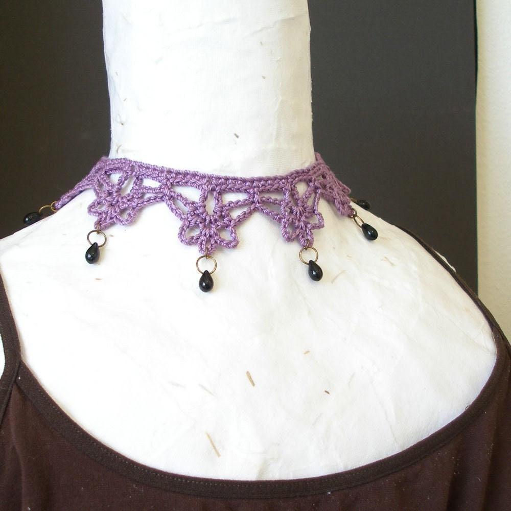 PDF Crochet Pattern - Mina Harker Necklace