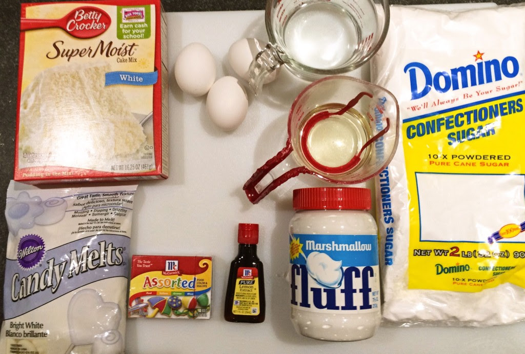 Ingredients Easter Egg Cakes