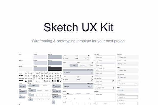 Sketch UX Kit for Wireframing and Prototyping - Graphic Ghost