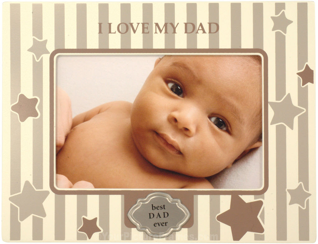 Brown I Love My Dad Picture Frame