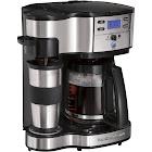 Hamilton Beach Brands 49980Z 2-Way Brewer Coffeemaker - Black/Stainless Steel