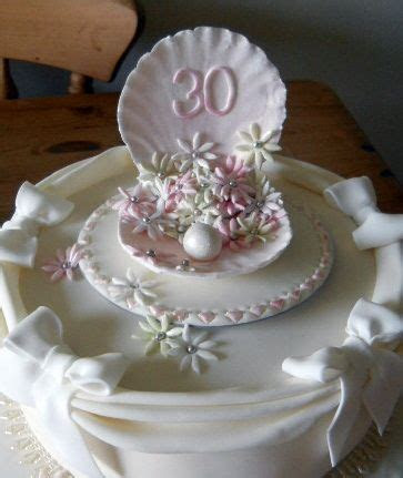 30th anniversary cake Pearl   50Th Anniversary Cakes in