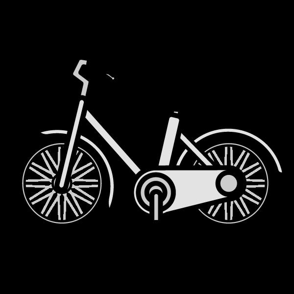かわいい自転車の無料イラスト商用フリー オイデ43