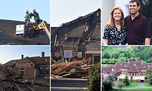Downfall of the House of York: Andrew and Fergie's mansion razed
