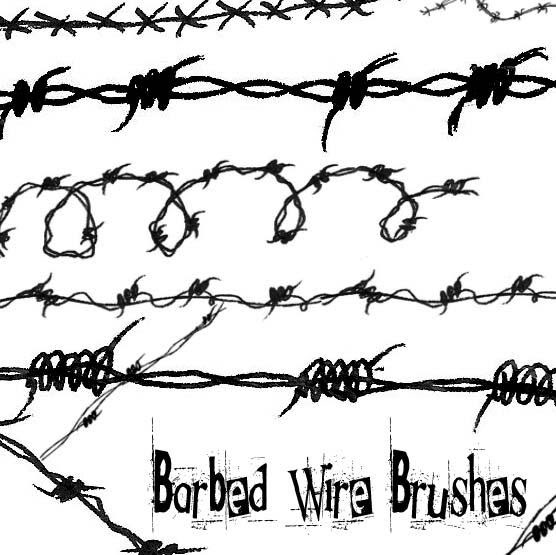 Ajke Chapter Rose Barb Wire Tattoo Designs