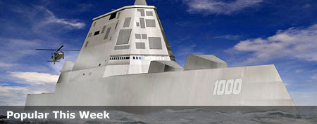New U.S. stealth warship stirs controvery. This image released by Bath Iron Works shows a rendering of the DDG-1000 Zumwalt, the U.S. Navy's next-generation destroyer. (AP Photo/Bath Iron Works)