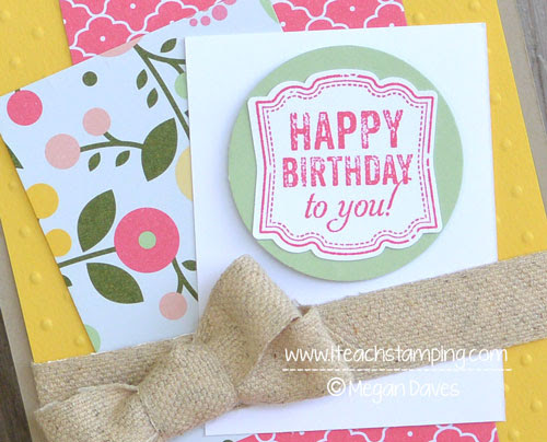 Hand Made Birthday Card Idea - Stampin' Up!'s Label Love