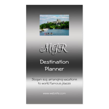 Monogram, Destination Planner, metallic-effect Business Card