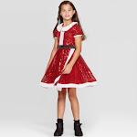 Nickelodeon Girls' JoJo's Closet Holiday Dress Red XS, Girl's