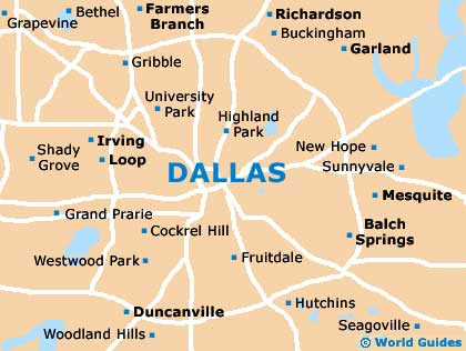 Map Of Dallas Texas And Surrounding Area