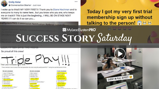"[Success Story Saturday] ""My First Video I Ever Posted... 442 Views, 50 Comments, 77 Likes, and 2 Shares in 1 Week!"" • My Lead System PRO - MyLeadSystemPRO"