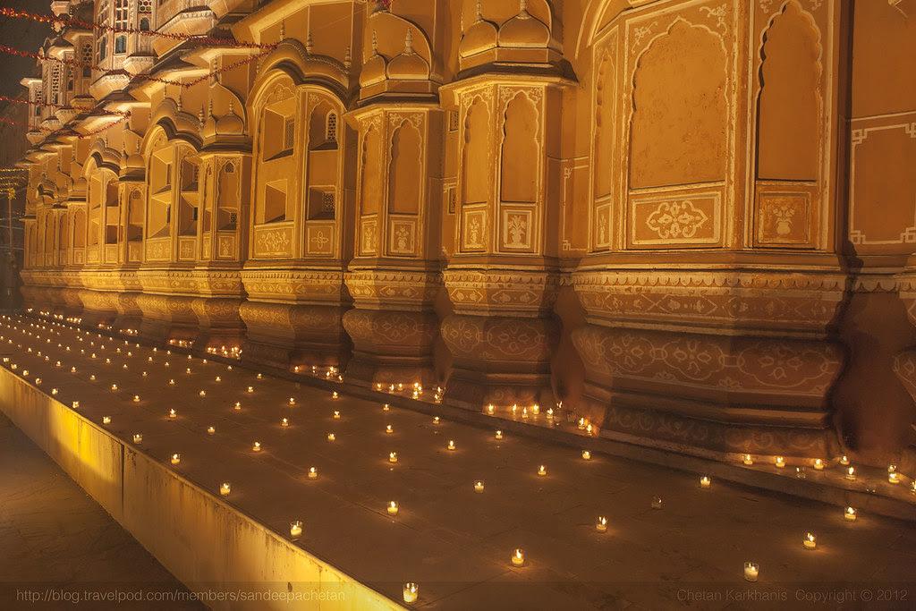 Hawa Mahal on Diwali, festival of lights