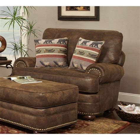 chelsea home furniture drew club chair cowboy brown