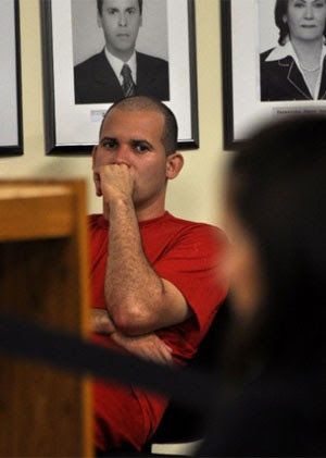 Macarrão começou a ser ouvido pelo júri por volta das 23h de quarta (Foto: Vagner Antônio/TJMG)