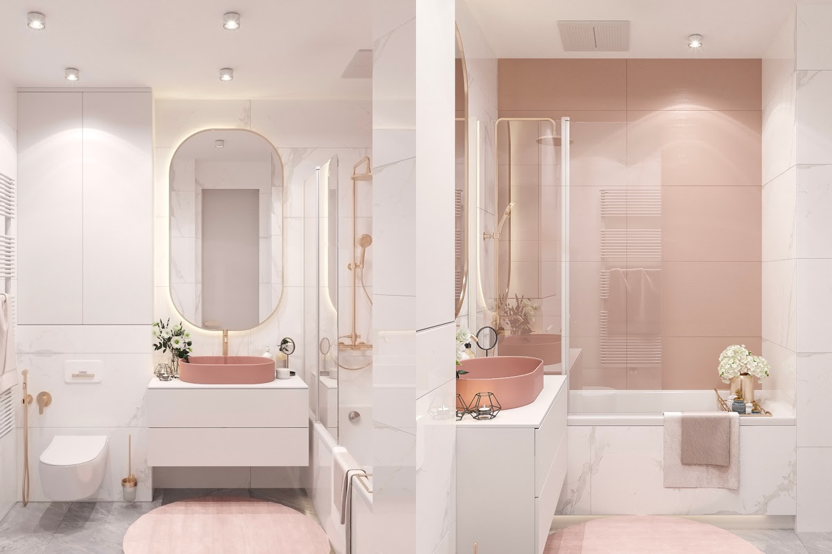 24 Pink Bathrooms With Tips, Photos And Accessories To Help You