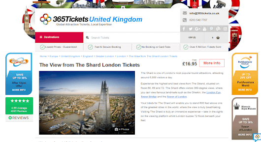 5 % Off The View from The Shard