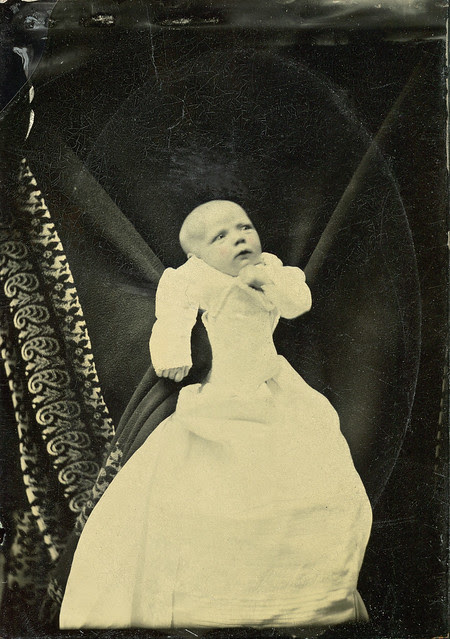 Black Winged Cherub Tintype