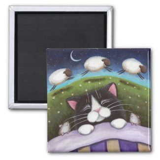 Fantasy Cat and Mouse Art Magnet magnet