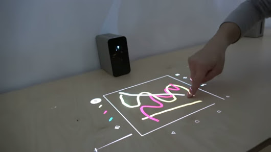 "Sony Xperia Touch, projector turns any table or wall into a 23"" Android tablet - YouTube"