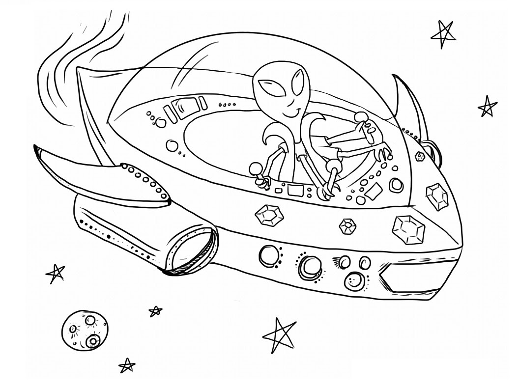 Free Printable Alien Coloring Pages For Kids
