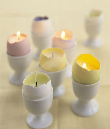 eggshell votives Easter Craft: Eggshell Votive Candles