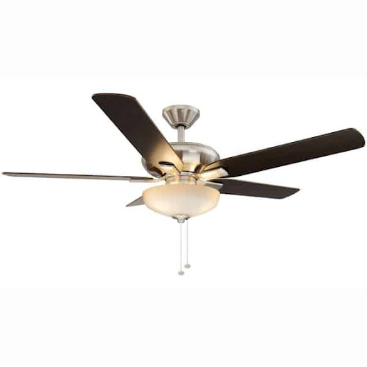 Holly Springs 52 in. LED Brushed Nickel Ceiling Fan with Light Kit Manual | Hampton Bay Ceiling Fans Lighting & Patio Furniture Outlet