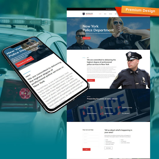 Police Department Website Template for Safety and Security Websites | MotoCMS