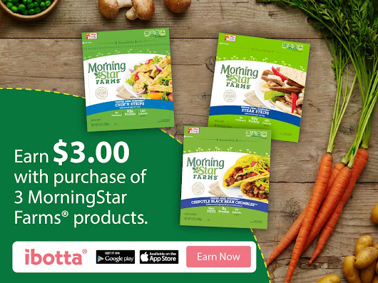 Ibotta: Earn $3 when you buy any 3 MorningStar Farms® products at Walmart - My Crazy Savings