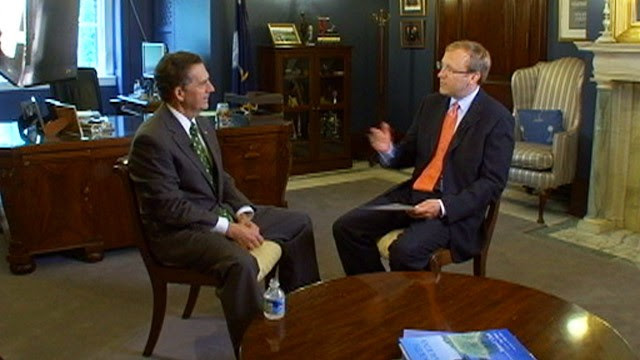 PHOTO: Jon Karl and Sen. Jim DeMint