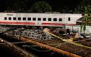 Taiwan rail crash kills 18 as train flips