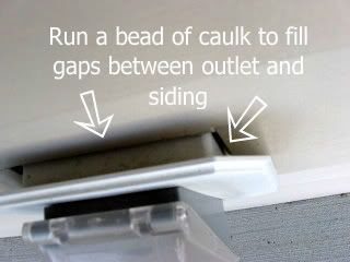 How to seal air leask with chalk outside your house