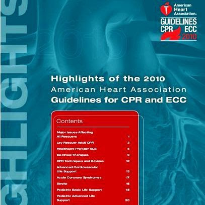 Differences between 2005 and 2010 adult and pediatric CPR