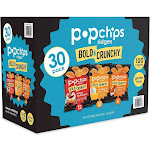 Popchips Potato Ridges, Variety Pack, 0.8 oz, 30-Count