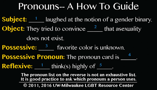 Gender Pronouns | LGBT Resource Center