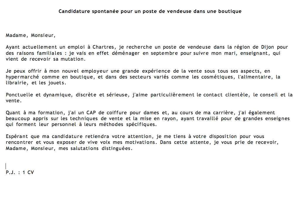 cover letter example  exemple de lettre de motivation